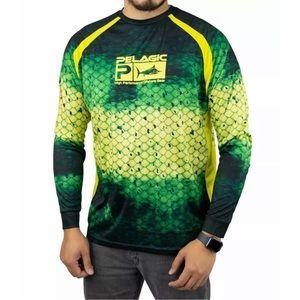 Pelagic Mens Vaportek Performance Dorado Shirt